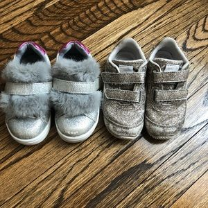 2 pairs of size 7 toddler shoes